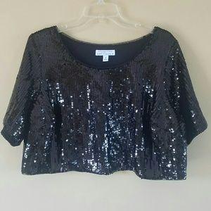 Ashley Nell Tipton x Boutique/ sequin crop top